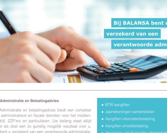 Administratie BALANSA | website