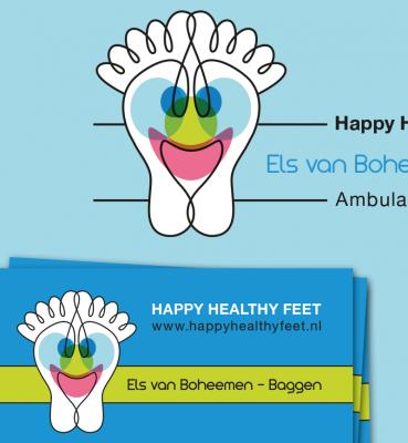 Happy Healthy Feet | Logo, Visitekaartje, Advertentie, Website