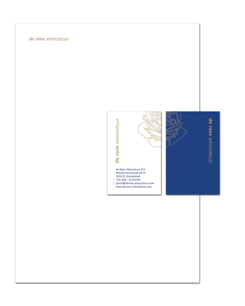 De Roos Advocatuur Logo & Huisstijl