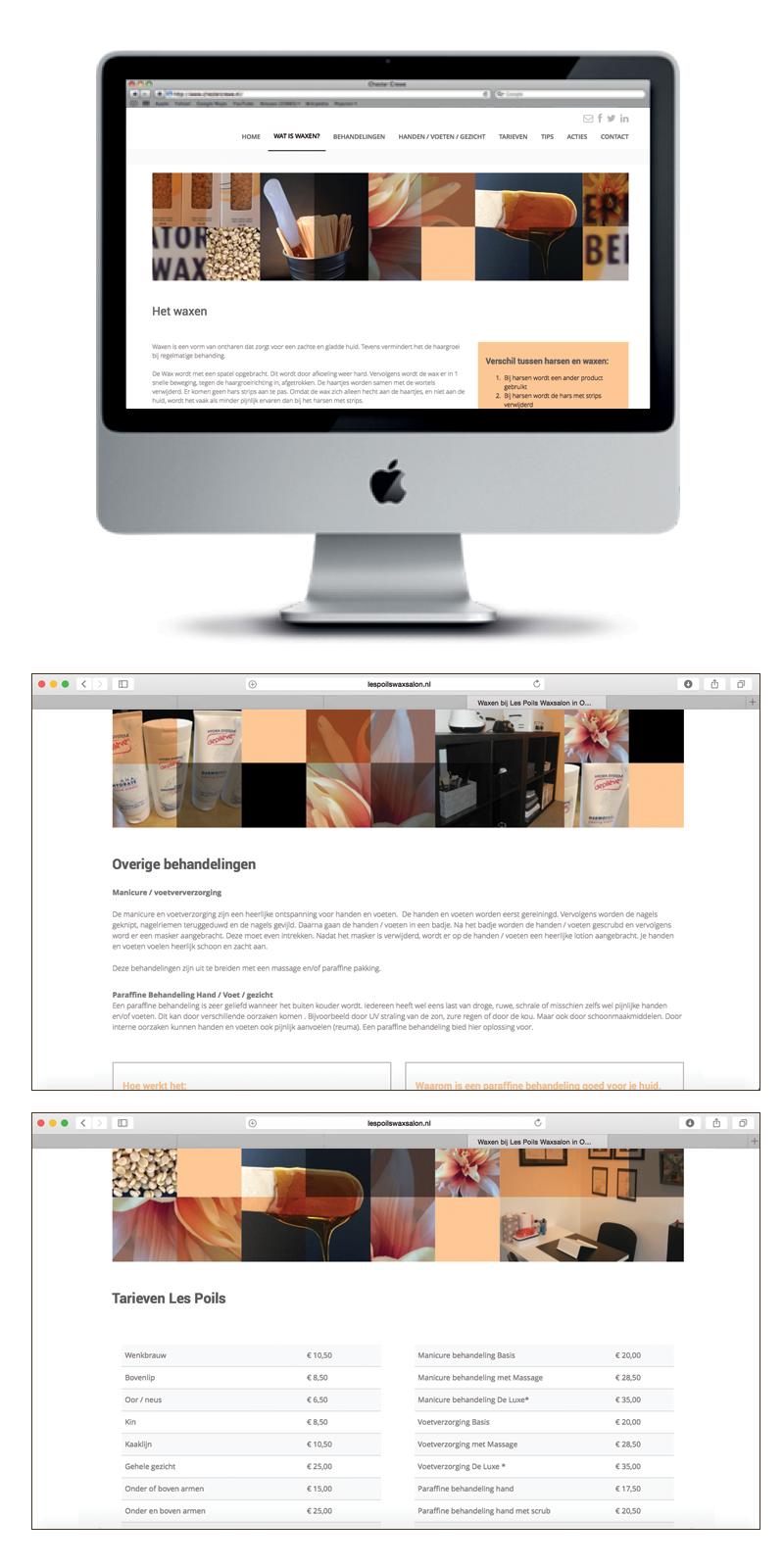 Waxsalon Les Poils Website